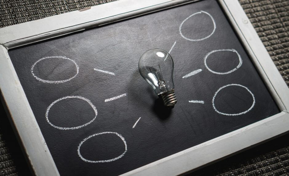 Image showing a light bulb to show idea planning and strategy for the year